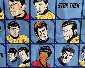Star Trek-MICROWAVE BOWL COZY-Kirk Spock McCoy Sulu-Comic Strip-Reversible-Warm Bowl Holder