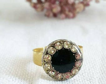 Black Solitaire Ring