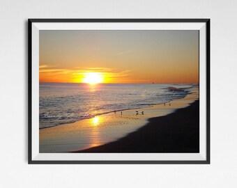 Beach photo print, North Carolina beach, fine art photography, landscape photography, nature photography, wall decor, beach decor, beach art