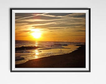 Beach wall art, Beach decor, beach photography print, landscape photography, nature photography, wall decor, sunset photography print