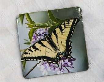 Butterfly magnet, gift for mom, small magnet, butterfly decor, kitchen decor, kitchen magnets, mother's day gift, 2x2 magnet, photo magnet