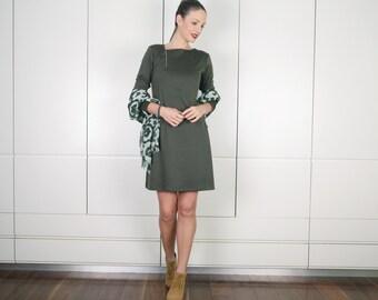 4639300fbe5b9b OP verkoop olijfgroen jurk