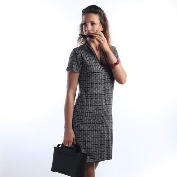 f864ad0c186b96 Summer dress Black   white tunic tops Womens Tunic dress