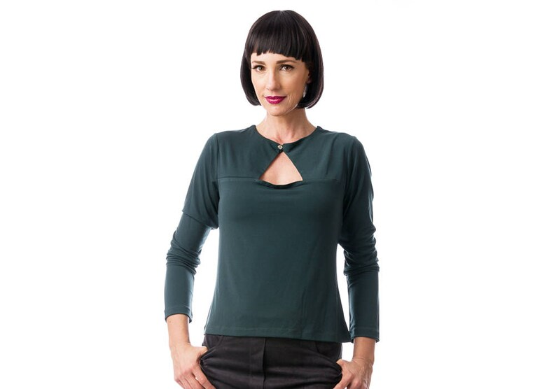 Olive green Shirt Christmas In July Evening Tops Long Sleeve Shirt Ladies Clothing