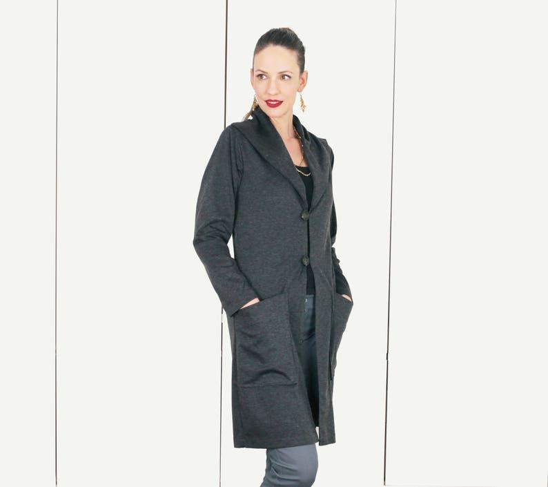 5f7e24f254 Long Cardigan Winter Jacket Womens Blazer Ladies Clothes | Etsy