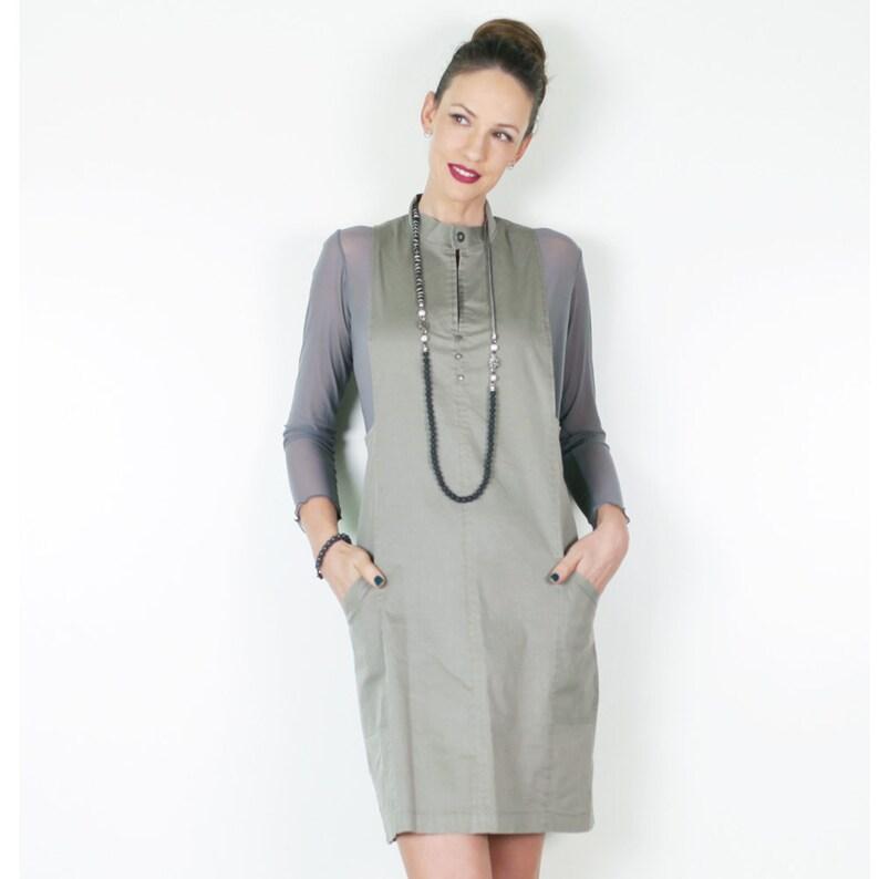 50bfd2693a6 ON SALE Pinafore Dress Womens Pinafore High Fashion Dress
