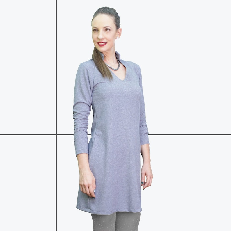 cadc53462d364d Women tunic tops Women's Tunic dress Blue tunic | Etsy