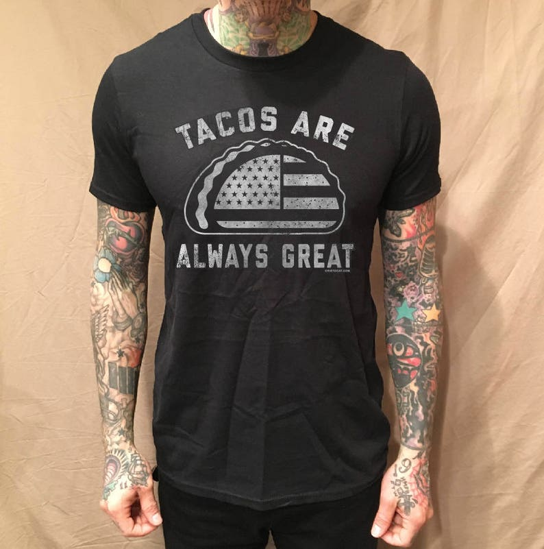 a511a131bf36 Tacos Are Always Great Black Tee | Etsy