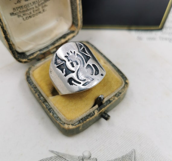 Vintage French Dragon Ring, Statement Ring, Unisex