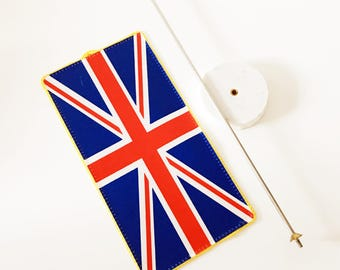 High-end Office Protocol Flag Union Jack Flag on Marble Stand Flag of the United Kingdom