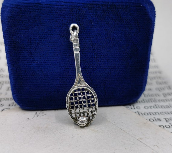 Tennis Racket Necklace, Silver Tennis Necklace, Te