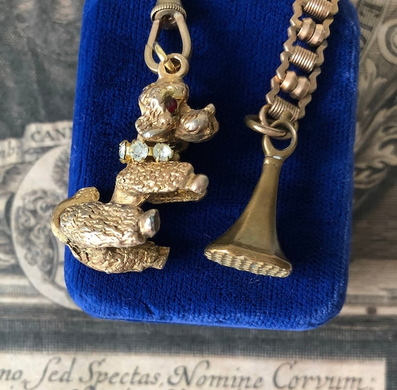 Vintage Poodle Dog Chatelaine with Wax Seal Stamp