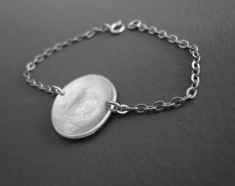 """good yeap"" sterling silver bracelet"