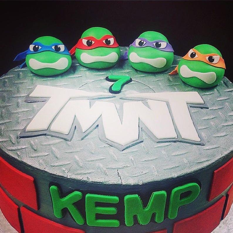 Turtle Ninja Cake Toppers