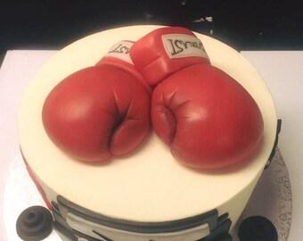 Boxing Gloves Cake Topper