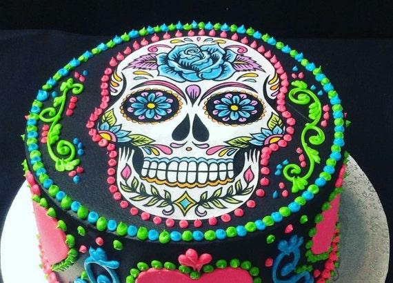 Sugar Skull Cake Topper | Etsy