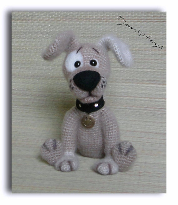 Puppy Ooak Kleine Hond Gevulde Dieren Haak Handgemaakte Zacht Etsy