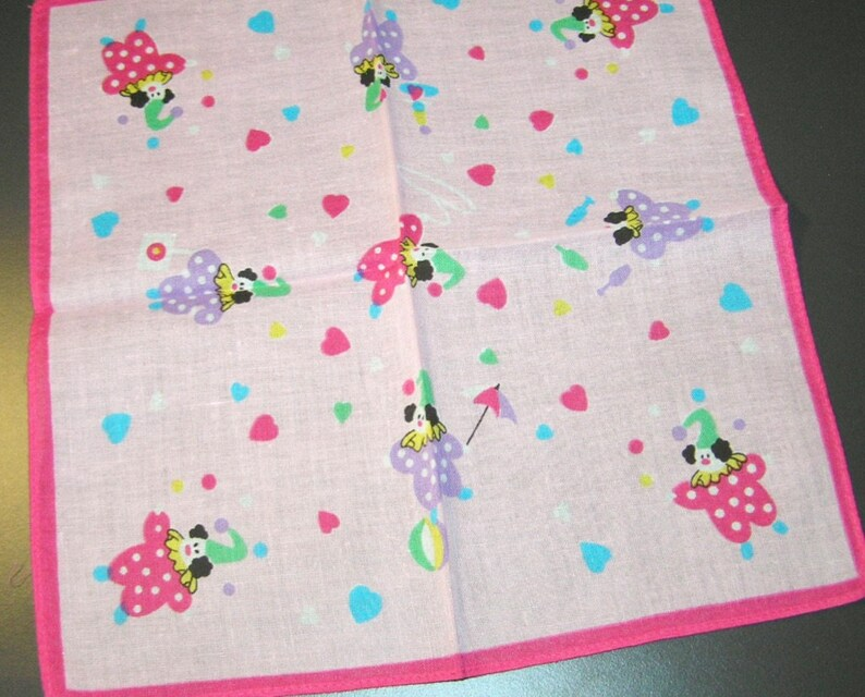 Adorable Vintage Children s Hankie Pink Shades and Cute  63a17cb28
