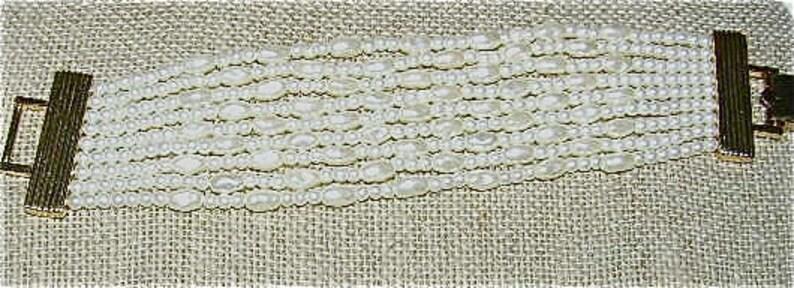 NAPIER Nine-Strand Vintage Faux Pearl Bracelet