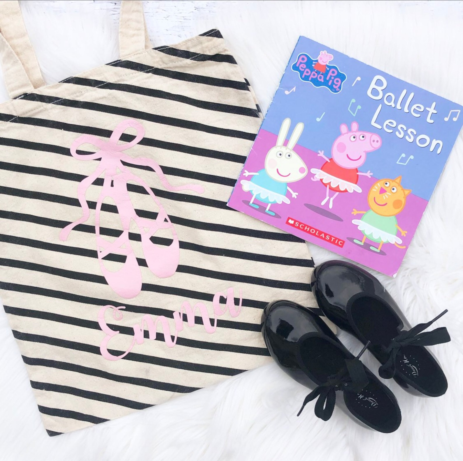 personalized ballet bag - ballet tote bag - dance canvas bag - tap shoe bag - dance recital gift - ballet gift bag - ballet part