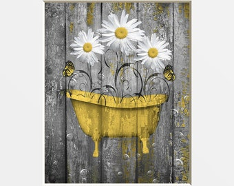 Rustic Bathroom Art Etsy