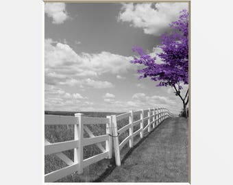 Purple Wall Art Etsy