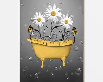 Fresh Yellow Bathroom Decoration