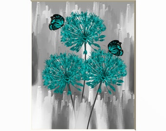 Teal Bathroom Art Etsy