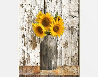 Sunflower Kitchen Decor Etsy