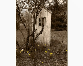 Rustic Vintage Outhouse Decor Farmhouse Country Wall Art Etsy