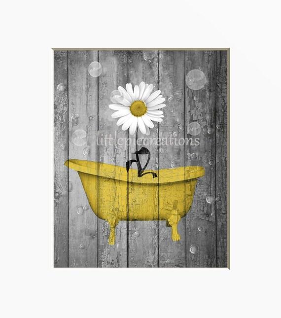Bathroom Walls Sweating Yellow: Yellow Gray Rustic Farmhouse Bathroom Wall Art Pictures