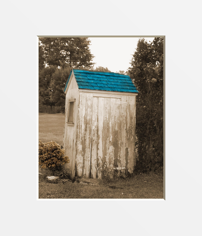 Rustic Vintage Bath Decor Vintage Outhouse Wall Art