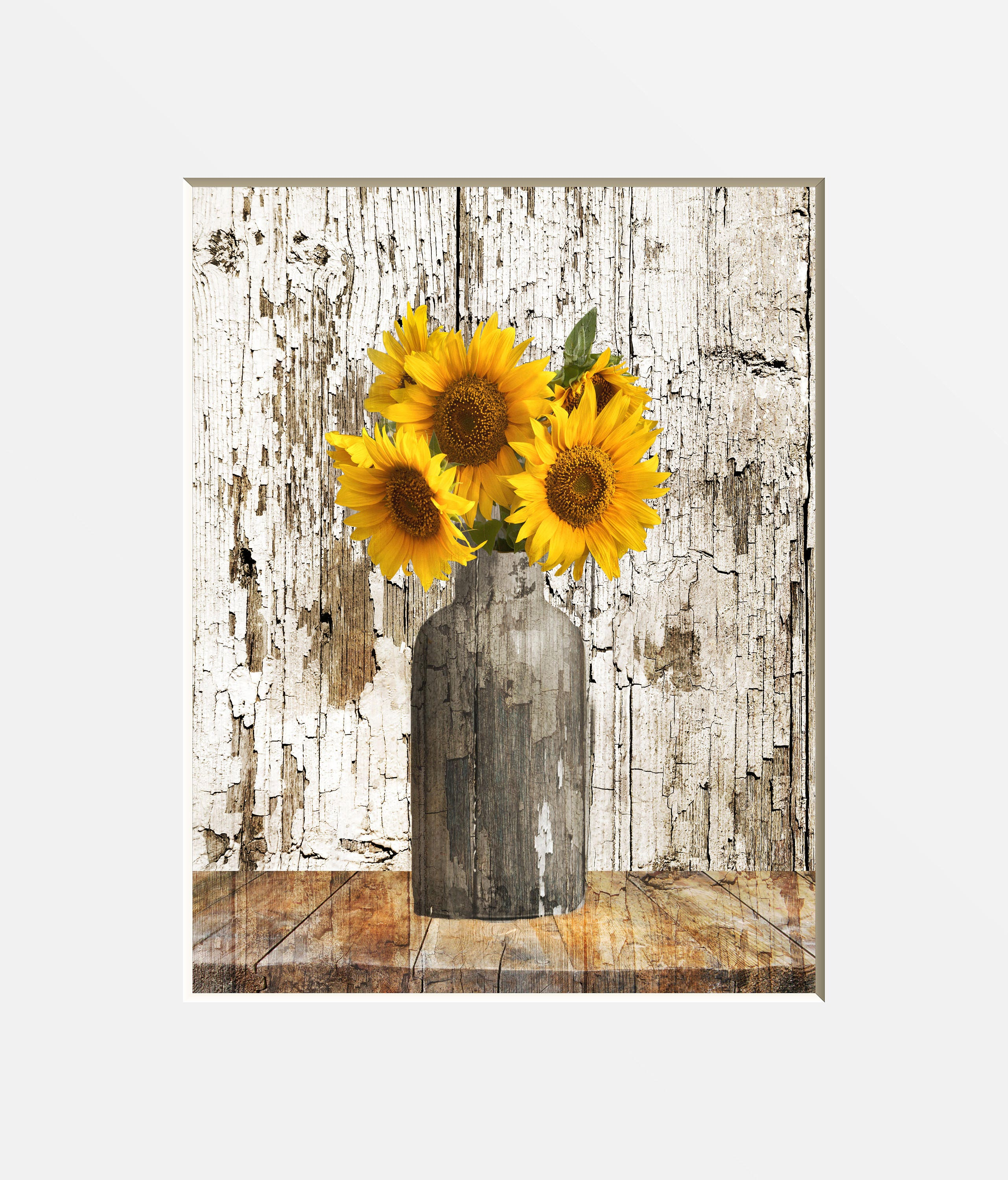 Rustic Home Decor: Rustic Sunflower Decor Rustic Home Decor Farmhouse Wall