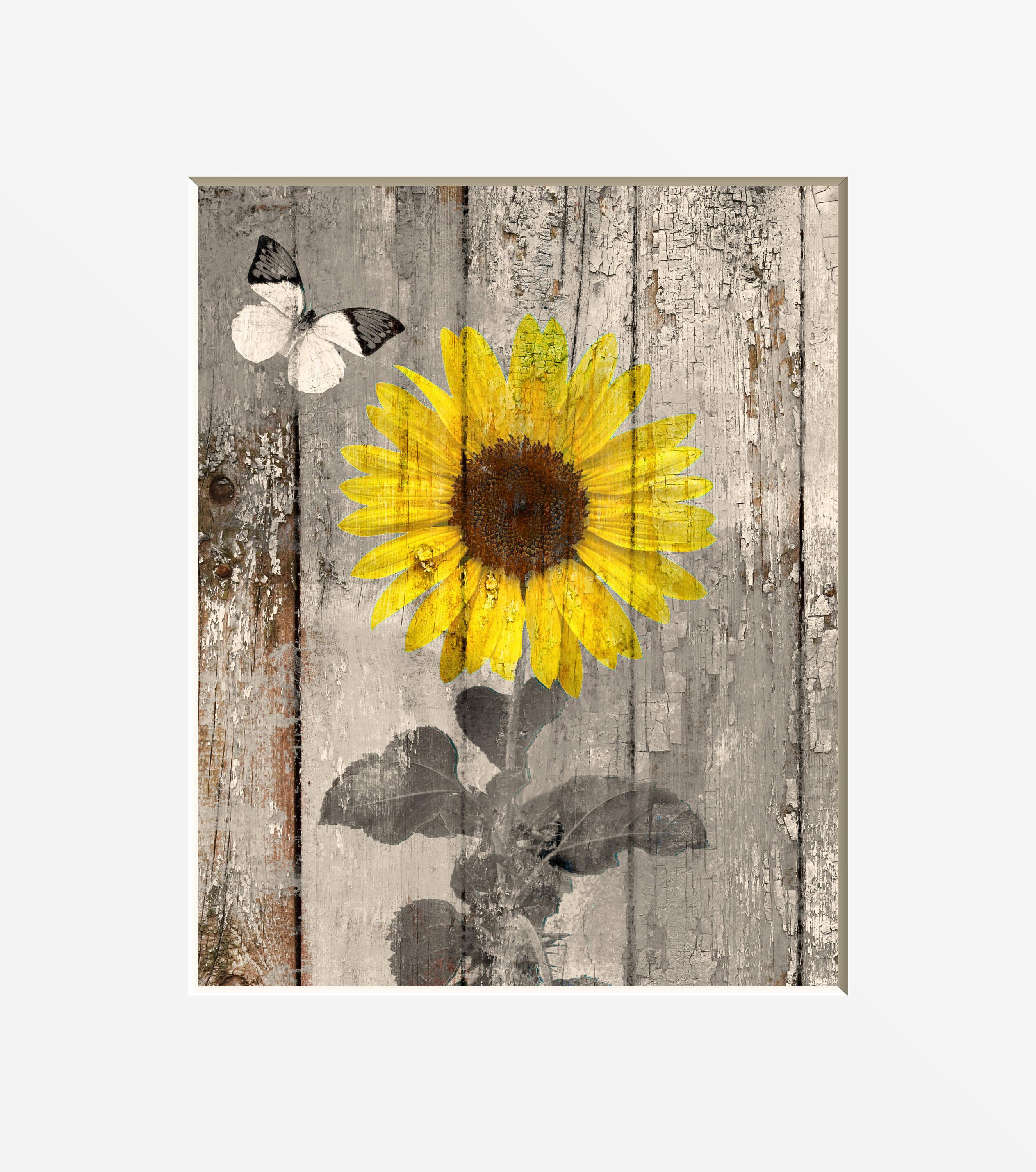 Rustic Country Farmhouse Sunflower Butterfly Home Decor Wall | Etsy
