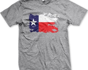 Old Weathered Texas Flag Men s T-shirt ad55fdf33