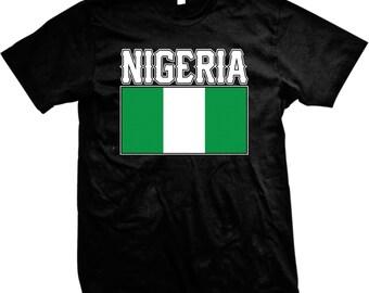0af69b24857 Nigeria Flag Men's T-shirt, Nigerian Flag, Federal Republic of Nigeria,  Nigerian Pride, Men's Nigeria T-shirt GH_01609_tee