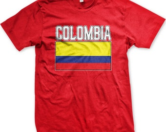 3e25f7a13b9 Colombia Flag Men's T-shirt, Colombian Flag, Repuplic of Colombia, Colombian  Pride, Libertad y Orden, Men's Colombia T-shirt GH_00984_tee