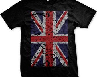 d3c58fb1fa7 Faded Great Britain Flag Men s T-shirt