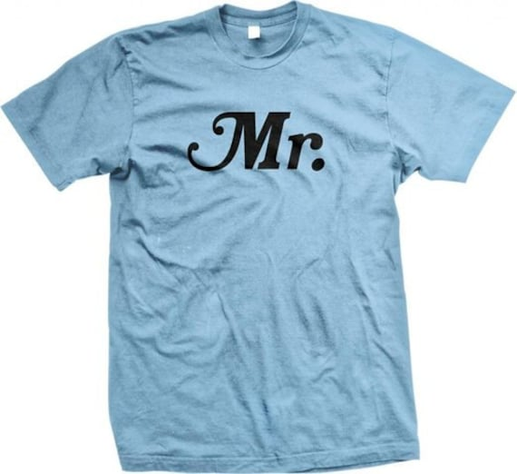 25e06fa67 MR. The Mr Tshirt Mr & Mrs Husband and Wife Bride and   Etsy