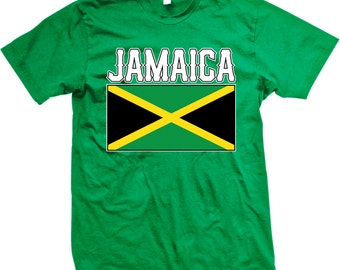 Jamaica Flag Men's T-shirt, Jamaican Flag, Out of Many, One People, Jamaican Pride, Men's Jamaica T-shirt GH_01560_tee