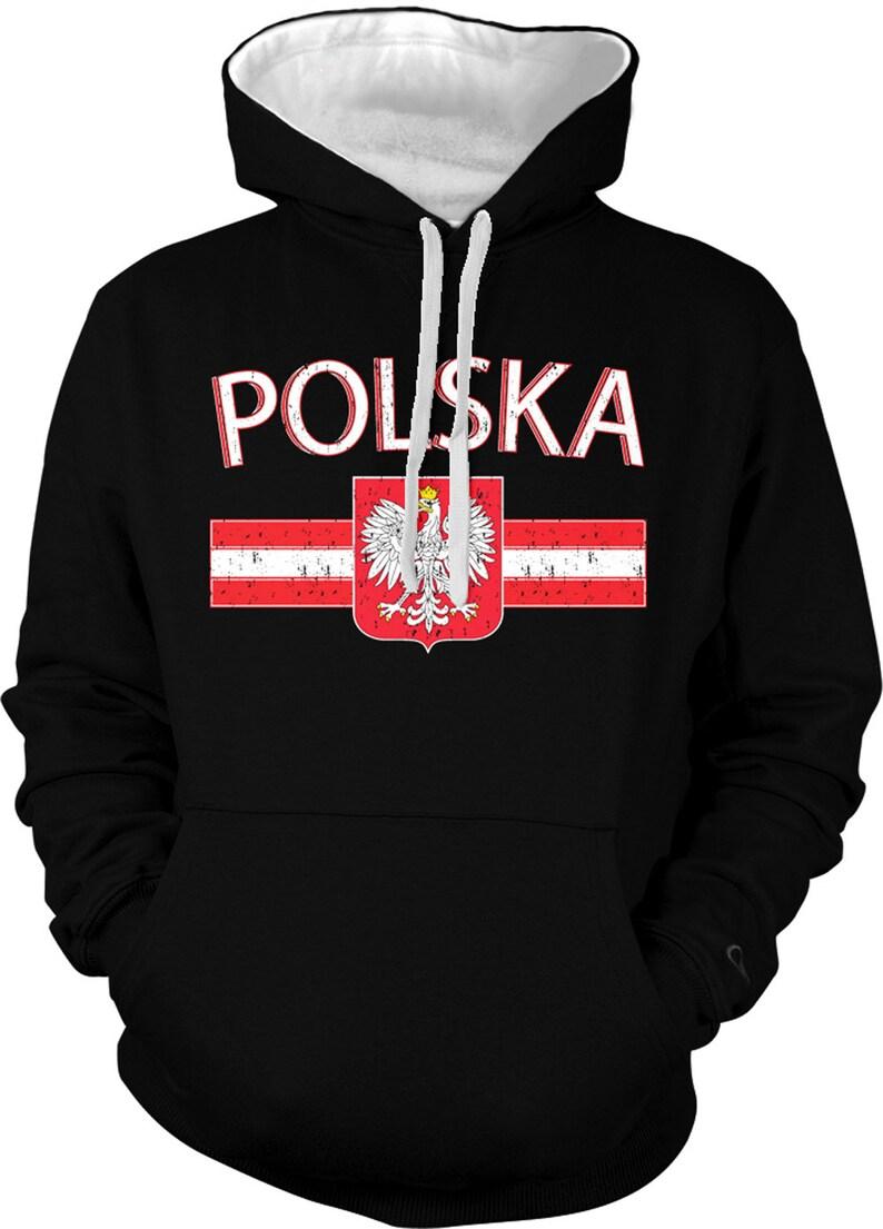 POLSKA Country Sweatshirt. Polish Pride. Poland Flag  6b268b8ae