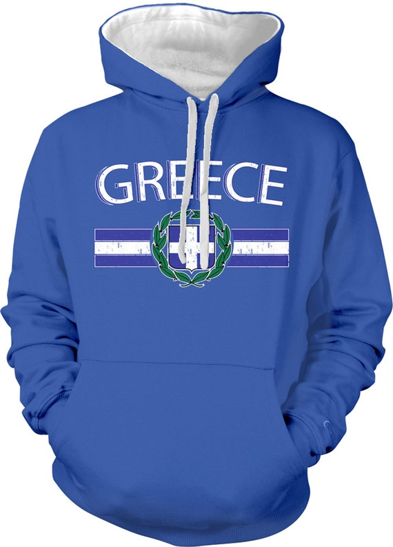 Greece Flag Soccer Hellenic Republic Hellas Ellada Greek Pride Mens T-shirt