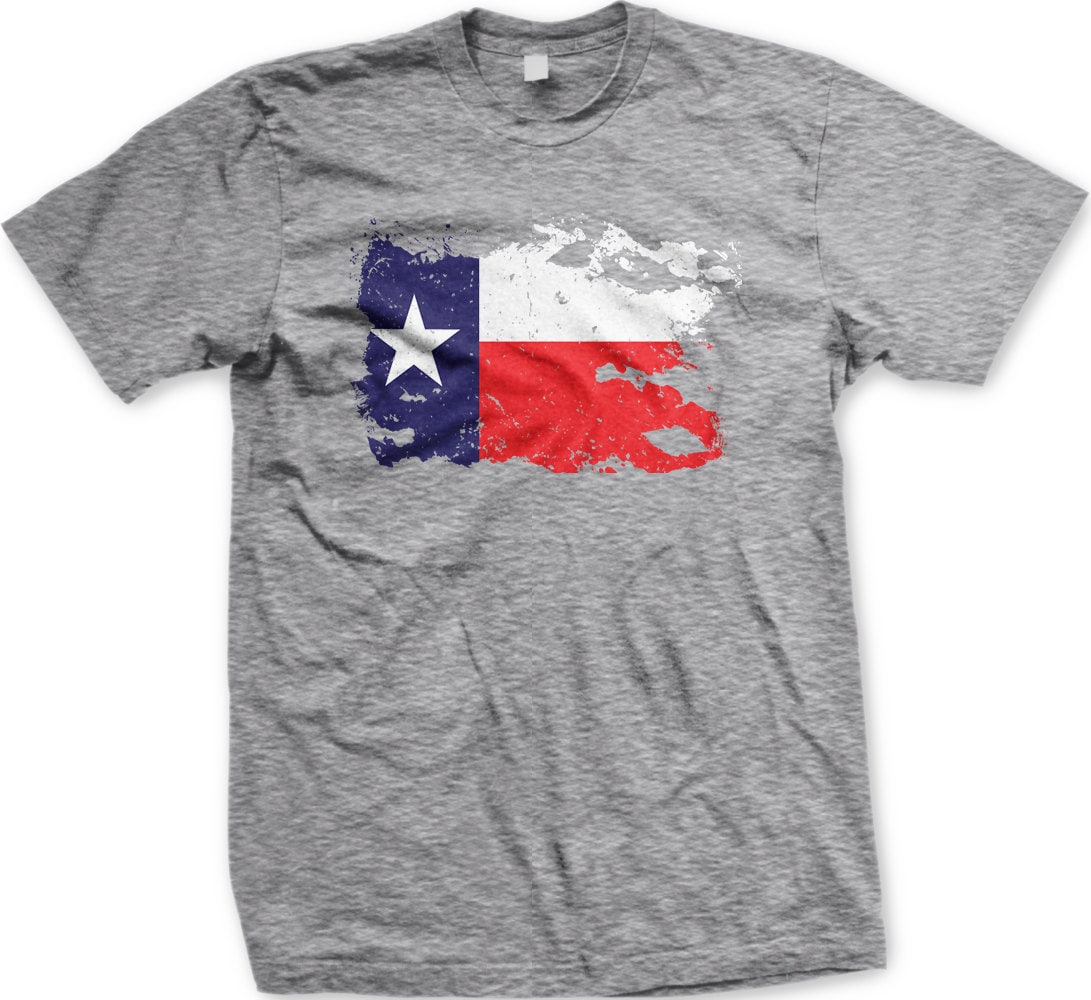 Old Weathered Texas Flag Mens T Shirt Faded Torn Etsy