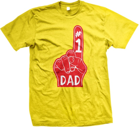 Number 1 Dad DAD Happy Fathers Day T Shirt