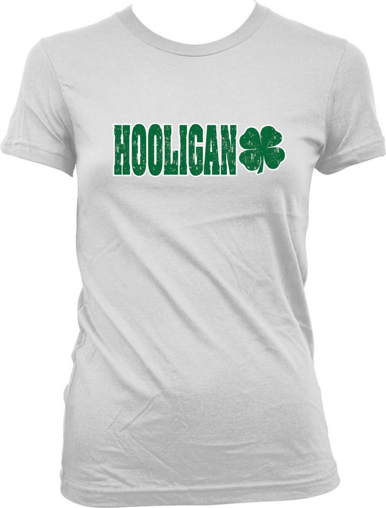 dcd35b2f7 HOOLIGAN St. Patrick's Day Shirt 4 Leaf Clover. Lucky St | Etsy