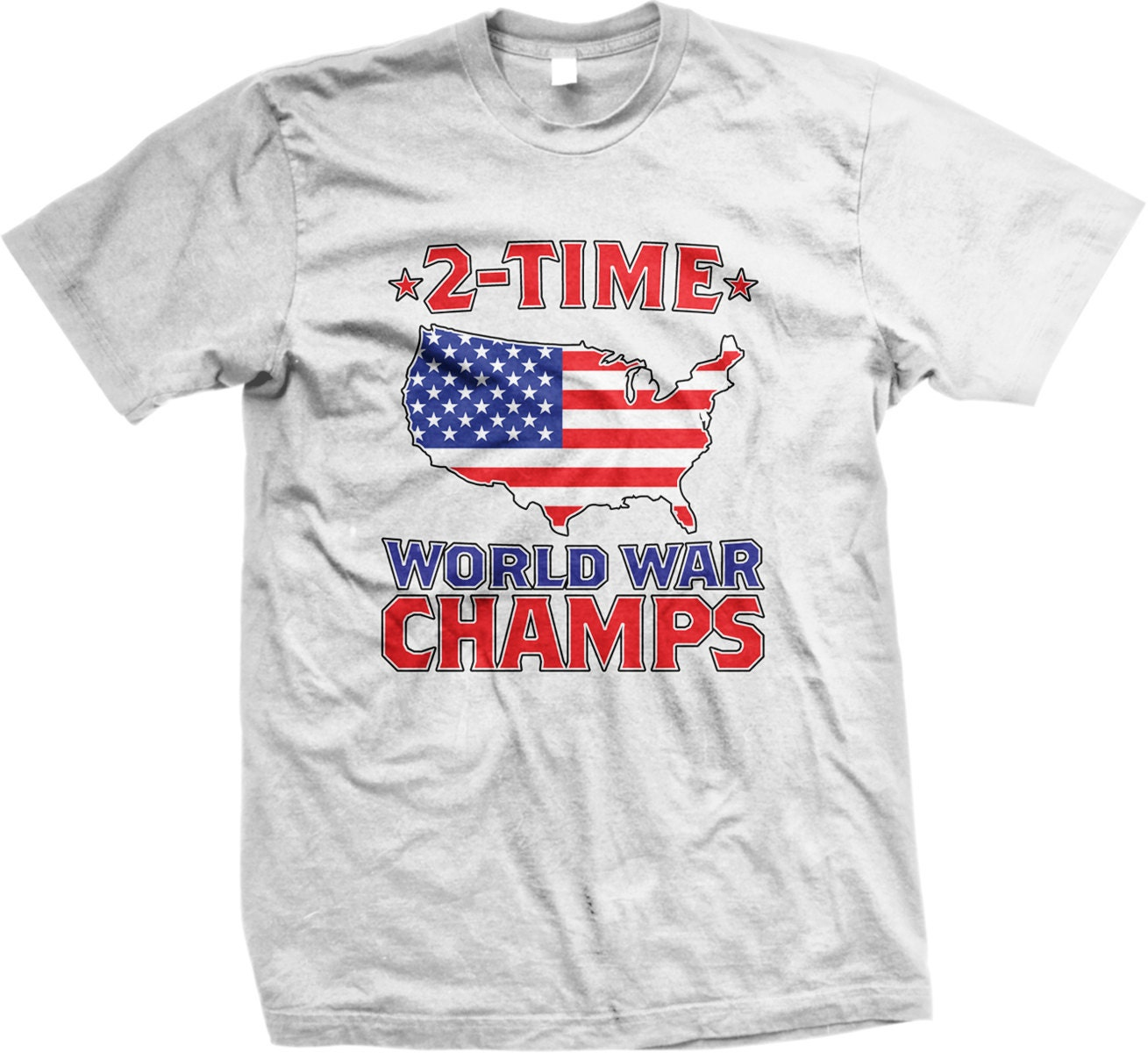 8e3348a3 2 Time World War Champs Men's T-shirt Independence Day | Etsy
