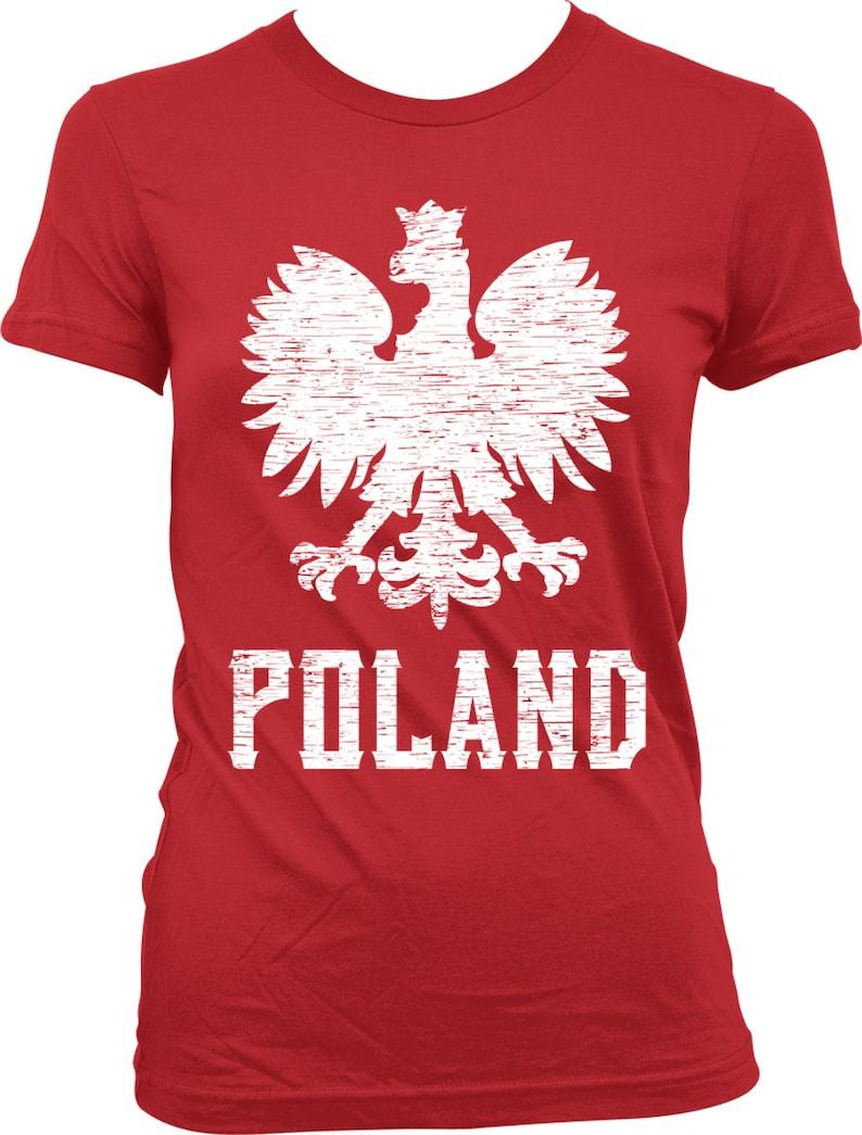 9d4500fb0 Poland Eagle Ladies T-shirt Polish White Eagle Polska Eagle | Etsy