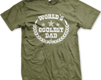 World's Coolest Dad Men's T-shirt, Worlds Coolest Dad, Best Dad Ever, #1 Dad, Father's Day Shirt, Father's Day TShirts - GH_00222_tee