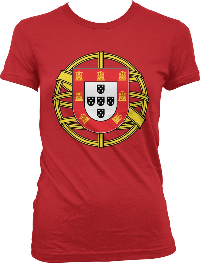 317ca26f0 Portugal Coat of Arms Ladies T-shirt Coat of arms of | Etsy