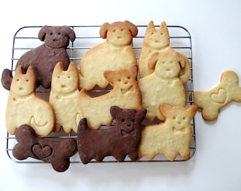 Dog Cookie Cutter and Stamp Set   3D Printed Cookie Cutters   Cute Dog Gift